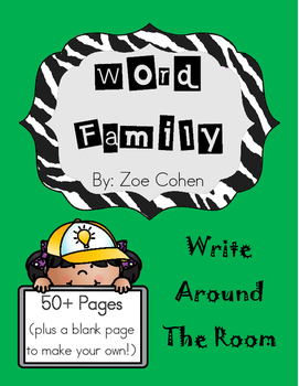 Word Family Write the Room Packet