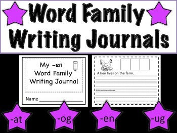 Word Family Writing Journals