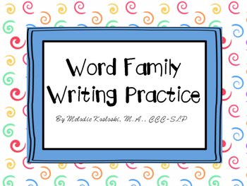 Word Family Writing Practice