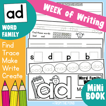Word Family Writing Week - ad family - Printable Book