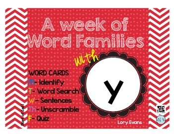 Word Family - y family