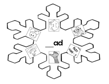 Word Family _ad Snowflake