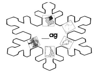Word Family _ag Snowflake