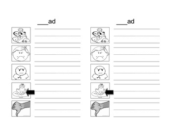 Word Family _ag and _ad worksheet