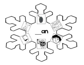 Word Family _an Snowflake
