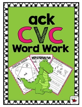 CVCC Word Family 'ack' (Word Work Activities)