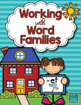 Word Family activities- et
