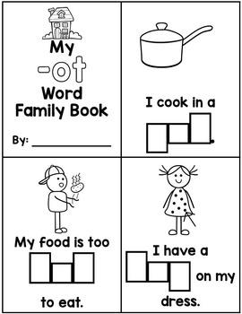 Word Family activities- ot