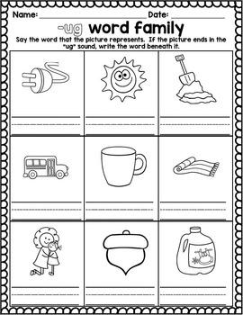 Word Family activities- ug