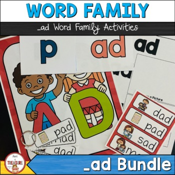 Word Family -ad   Posters, Video, Flash cards, Flip book and more!