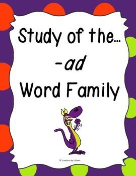 Word Family -ad Study