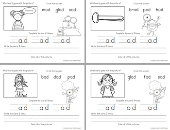 Word Family -ad Teaching Video and Workbook (Monster Detectives)