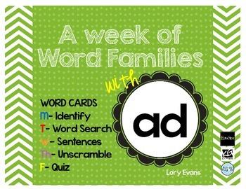 Word Family - ad family