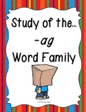 Word Family -ag Study