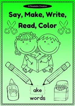 Word Family: -ake Activity Sheet and Book