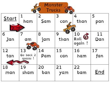 Glued Sounds--all,-am,-an (Monster Trucks)