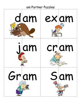 Word Family -am Study