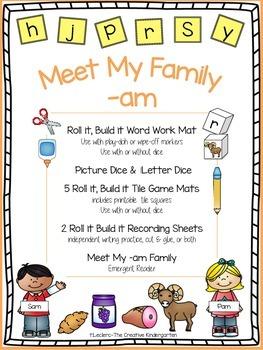 CVC Word Family {-am} Word Work & Emergent Reader