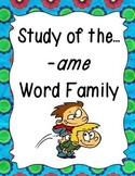 Word Family -ame Study