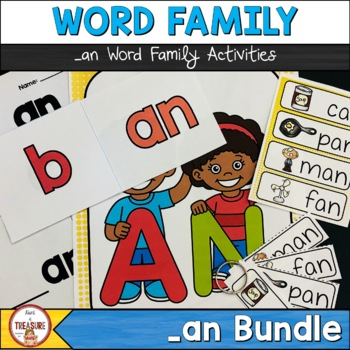 Word Family Posters and Activities -an