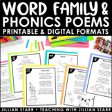 Distance Learning Word Family & Phonics Poetry | Poem Of The Week | Digital