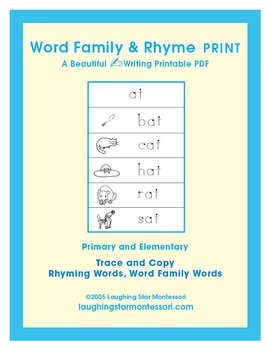 Word Family & Rhyme Writing Print