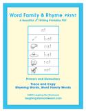 Word Family & Rhyme Writing Print