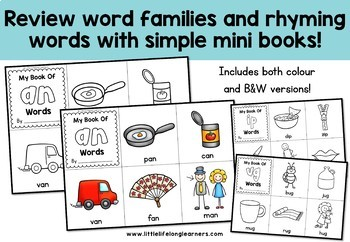 Word Family Books - Rhyming Activities