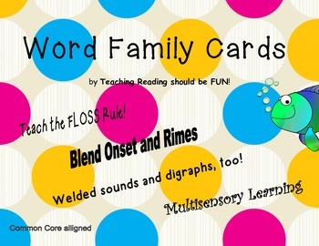 Word Family and Welded Sound Cards