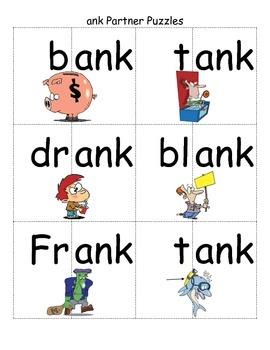 Word Family -ank Study