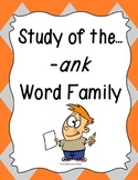 Word Family -ank Study