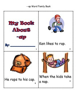 Word Family -ap book