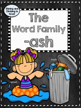 Word Family -ash Worksheets! - No Prep!