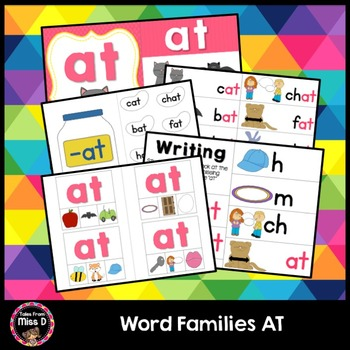 Word Families Activities AT