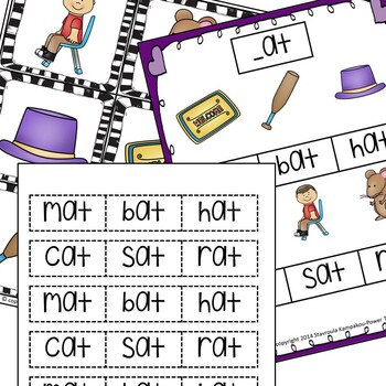Word Family at-CVC Words With Answer Key