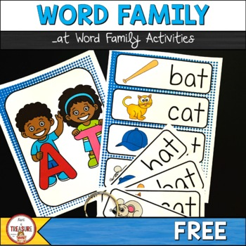 Word Family -at (Poster and Flash Cards)