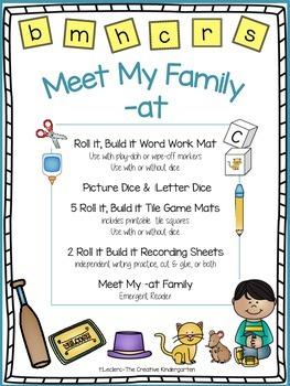 CVC Word Family {-at} Word Work & Emergent Reader