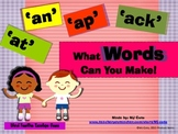 Word Family -at,-ap,-an,-ack