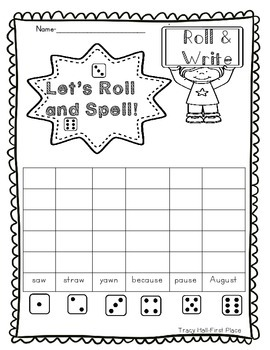 Word Family -aw and -au Word Work and Spelling Printables-freebie in preview