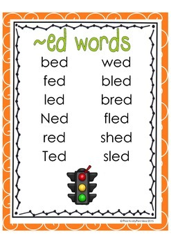 Word Family - ed