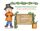 Word Family (-ell, -ill) Pumpkin Patch Board Game