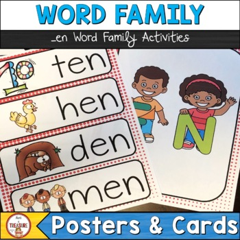 Word Family -en (Poster and Flash Cards)