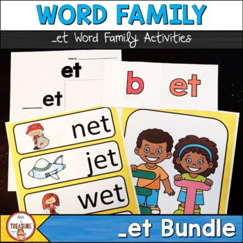 Word Family -et  Posters, Video, Flash cards, Flip book and more!
