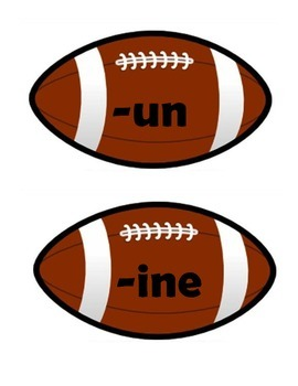 Word Family footballs