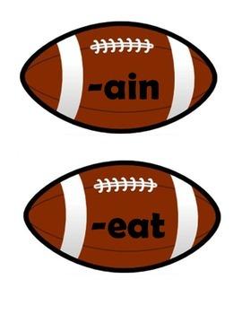 Word Family footballs