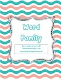 Word Families for Kindergarten or Grade 1