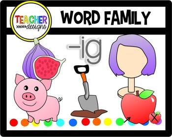 Word Family -ig Clip Art