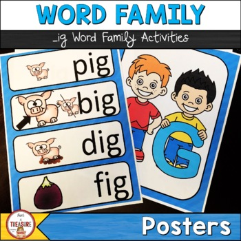 Word Family -ig (Poster and Flash Cards)