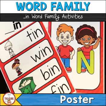 Word Family -in (Poster and Flash Cards)
