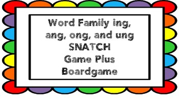 Word Family ing, ang, ong, & ung Phonics Game